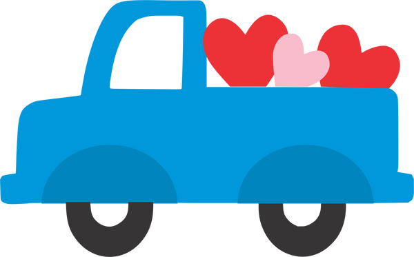 Truck with hearts