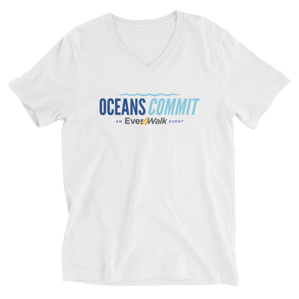 OceansCommit Unisex Short Sleeve V-Neck T-Shirt