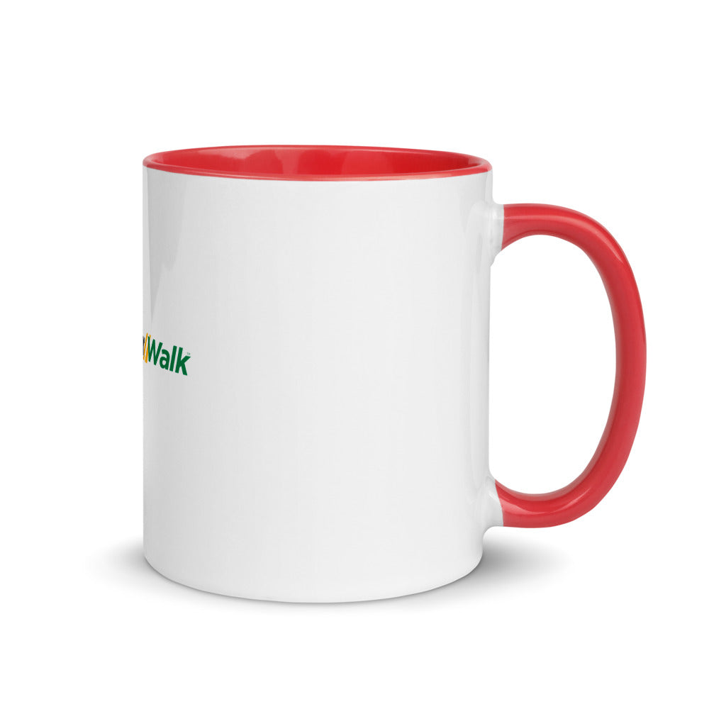 I ❤️ EverWalk Mug with Red Interior and Handle