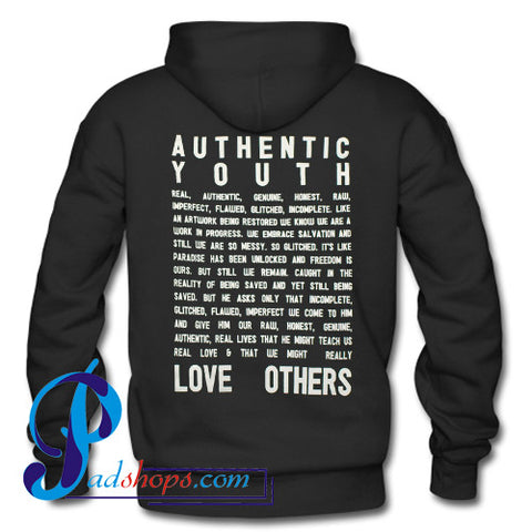 Authentic Youth Hoodie Back