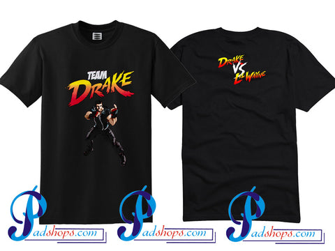 Lil Wayne Team Drake T Shirt Twoside
