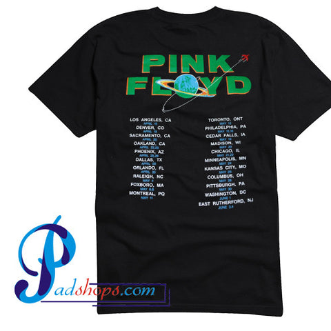 Pink Floyd 1987 Tour T Shirt Back