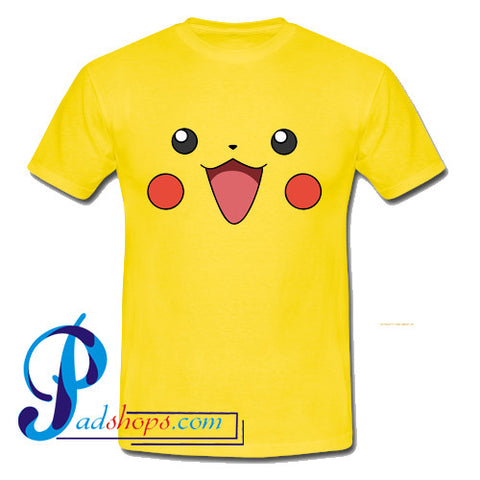 Pokemon Pikachu Face T Shirt