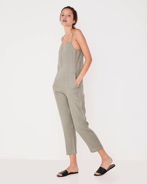 PINAFORE JUMPSUIT SEAGRASS