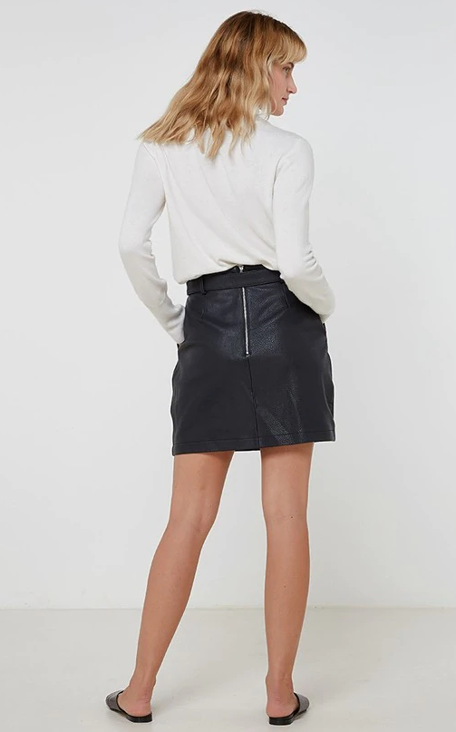 RUBY LEATHER SKIRT