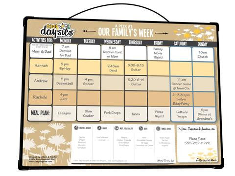 Weekly Planner - A Peek At Our Family's Week