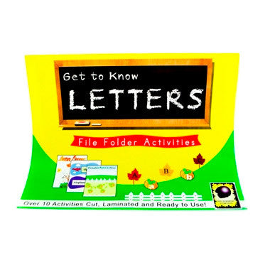 Get to Know Letters File Folder Activities