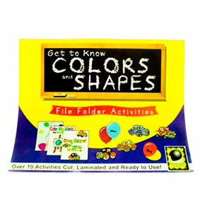 Get to Know Colors & Shapes File Folder Activities