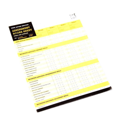 Speech & Language Assessment Score Sheets: 10-pack