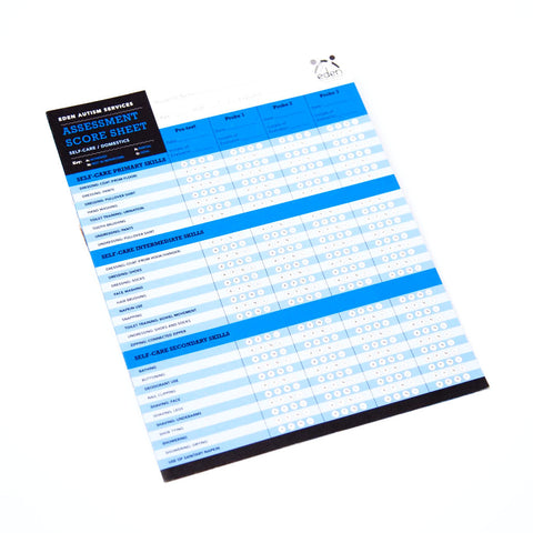 Self-Care & Domestics Assessment Score Sheets: 10-pack