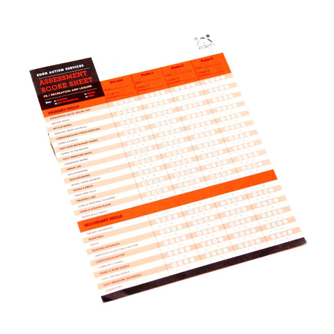 PE/Recreation & Leisure Assessment Score Sheets: 10-pack
