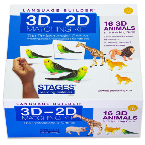 Language Builder 3D-2D Animal Matching Kit