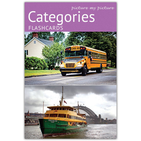 Categories Flashcards: 40 Language Photocards