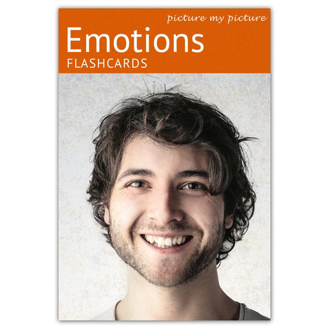 Feelings and Emotions Flashcards: 40 Emotion Language Photo Cards