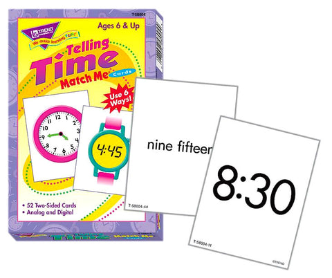 Time Telling Match Me Flashcards