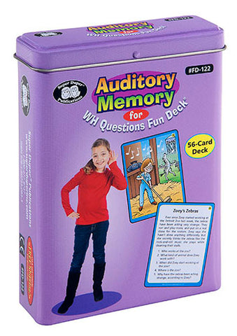 Auditory Memory WH? Fun Deck