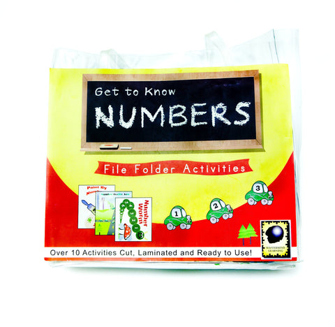 Get to Know Numbers File Folder Activities
