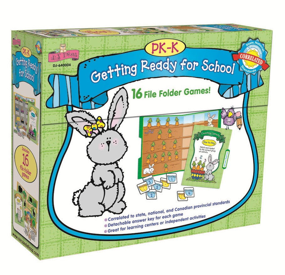 Getting Ready for School Games to Go:  16 File Folder Games