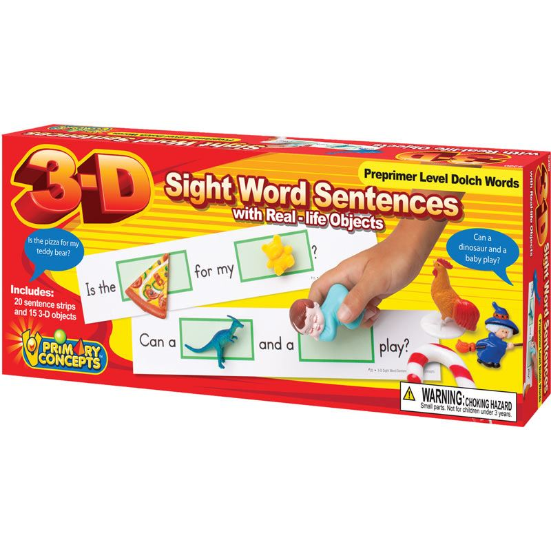 Copy of 3-D Sight Word Sentences Pre-Primer