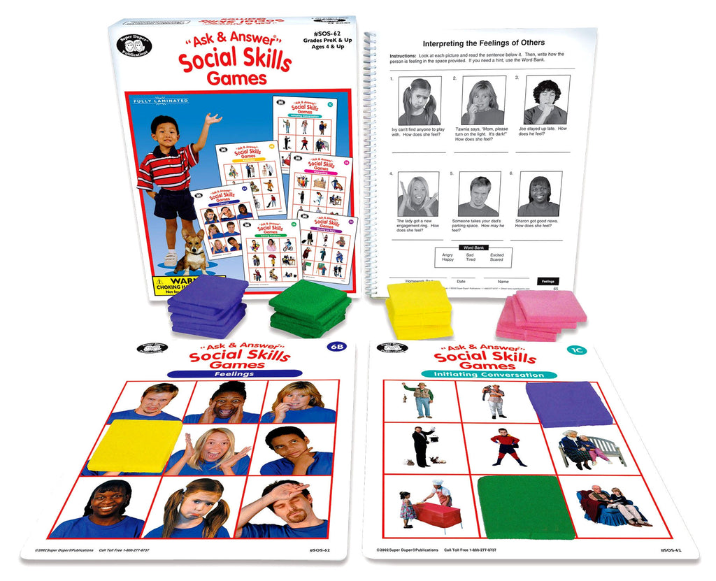 Ask & Answer Social Skills Game