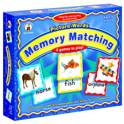 Picture Words Memory Matching Game