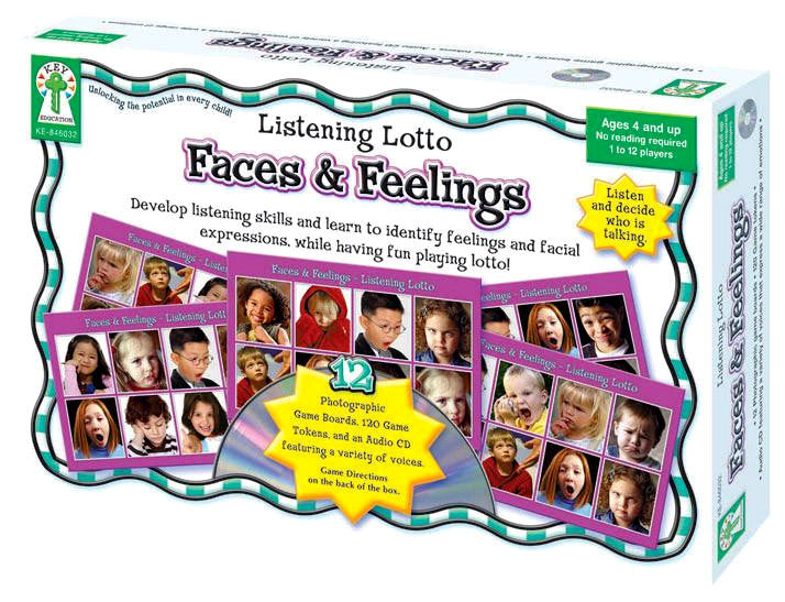 Faces & Feelings Listening Lotto