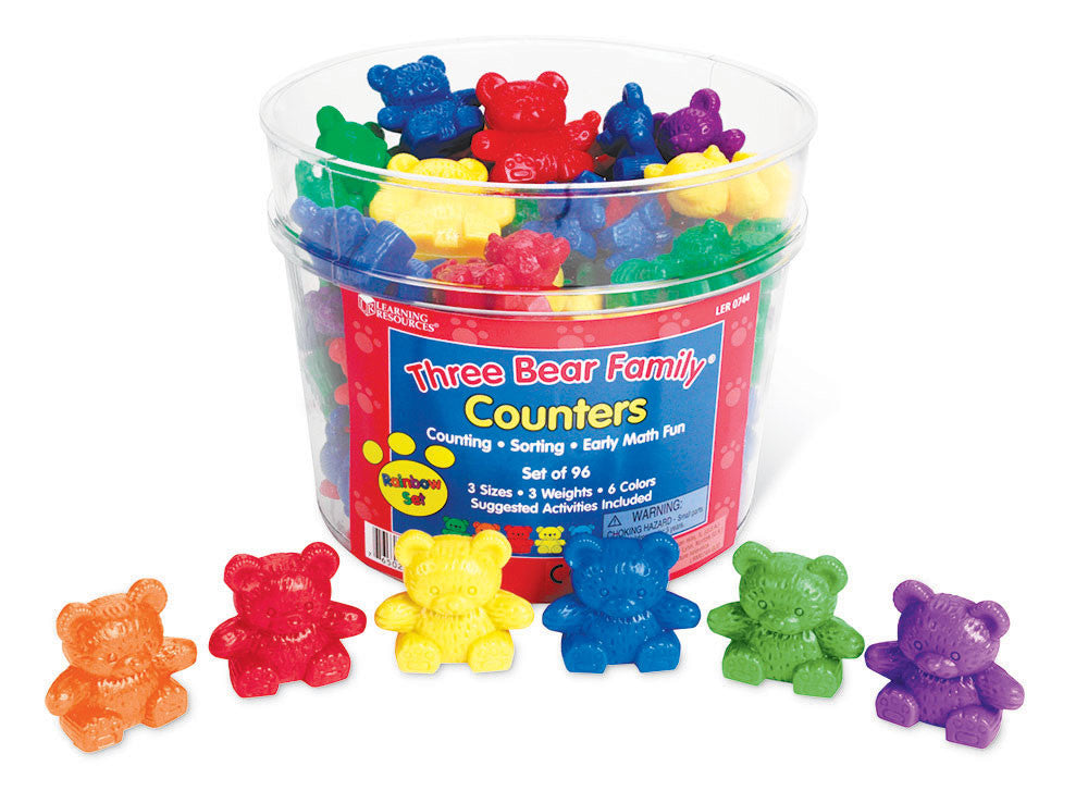 Three Bear Family Counters: Rainbow Set