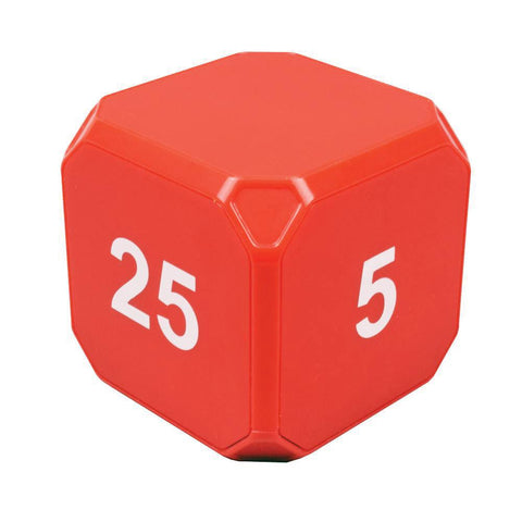 Productivity TimeCube® Plus: 5-10-20-25 Minute Preset Timer - Red