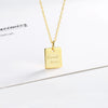 Letter Good Luck Plate Necklace Wholesale