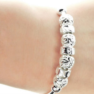 Vintage Bead Style 990 Pure Silver Bangle Wholesale Lots B