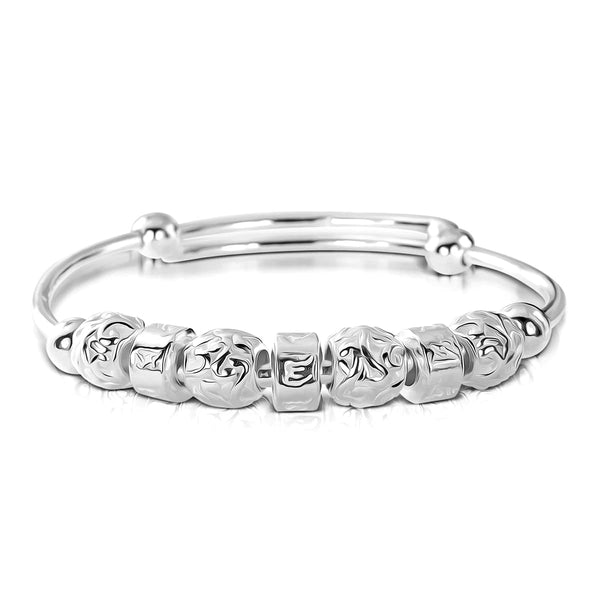 Vintage Bead Style 990 Pure Silver Bangle Wholesale Lots