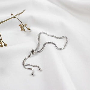 Sterling Silver Snake Chain with Shinning Bracelet Wholesale 3