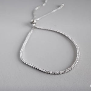 Sterling Silver Snake Chain with Shinning Bracelet Wholesale