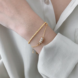 14K Gold Plated Cute Charm Dainty Bracelet Wholesale 4