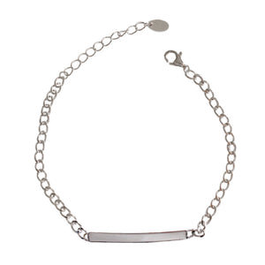 925 Silver Chain Shiny Bar Bracelet Wholesale 4