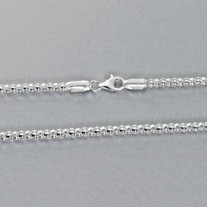 3mm Sterling Silver Italian Popcorn Chain Wholesale Lots 2