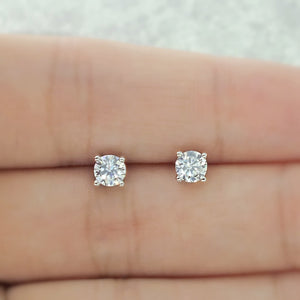Sterling Silver 4 mm Cubic Zirconia Earrings Studs Wholesale Lots 3