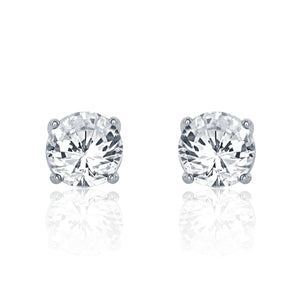 Sterling Silver 5 mm CZ Earrings Wholesale Lots 2