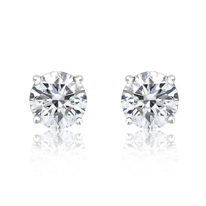 Sterling Silver 6 mm CZ Earrings Wholesale Lots