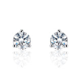5ps/Lot Sterling Silver 1.6 Carat CZ Earrings Wholesale - SilverLots