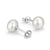 Sterling Silver 8-9mm Fresh Water Pearl Stud Earrings Wholesale Lots