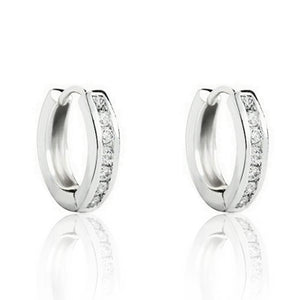 Sterling Silver 1.0 Carat Cubic Zirconia Hoop Earrings Wholesale