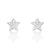 Cute Star Cubic Zirconia 925 Sterling Silver Stud Earrings Wholesale