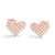 Silver 0.75 Carat Cubic Zirconia Heart Stud Earrings Rose Wholesale