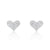 Pretty 925 Sterling Silver 0.75 Ct CZ Heart Stud Earrings Wholesale