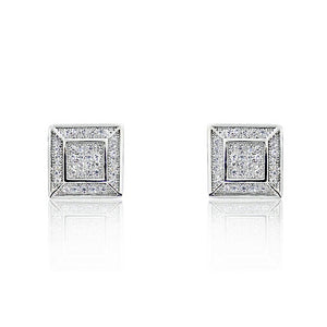 Sterling Silver Micro Pave 0.80 Ct CZ Stud Earrings Wholesale Lots