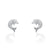 925 Sterling Silver Cubic Zirconia Cute Dolphin Earrings Wholesale