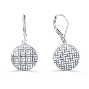 Sterling Silver Micro Pave Setting CZ Dot Earrings Wholesale Lots