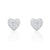 Sparkling Heart Cubic Zirconia 925 Sterling Silver Earrings Wholesale