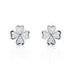 925 Sterling Silver Four Leaf Clover Cubic Zirconia Earrings Wholesale